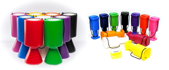 Handheld, coloured Chalice Collection Units